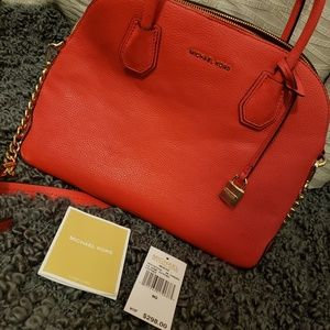 Michael Kors MK Sangria Mercer tote crossbody used